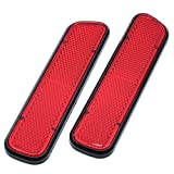 AUTUT Car Reflective Sticker Stick-On Red Warning Safety Reflector Strips Pack of 2