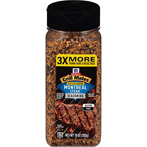 McCormick Grill Mates 25% Less Sodium Montreal Steak Seasoning, 10 Ounce