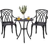 Nuu Garden Patio Bistro Table Sets, 3 Piece Outdoor Furniture Sets...