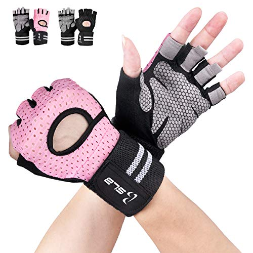 Gym Gloves, SLB Training Gloves with Full Wrist Support, Palm Protection and Extra Grip, Breathable Sport Gloves for Gym and Fitness, Great for Weight lifting, Cross Fit Training( Men & Women-P/S)