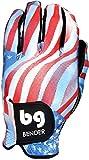 Bender Gloves Men's Spandex Golf Glove, Worn on Left Hand (Flag, Large)