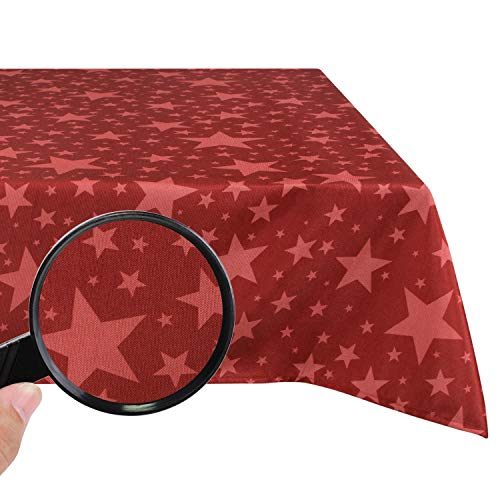 Valia Home Tischdecke Tischtuch Tafeldecke abwaschbar wasserdicht schmutzabweisend Lotuseffekt pflegeleicht Teflon behandelt eckig (Weihnachten, 130x 160 cm)
