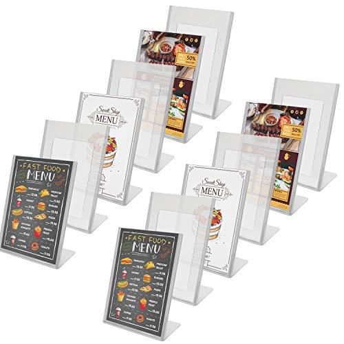 Kurtzy Tischaufsteller (12 er Set) - A5 Durchsichtigem Acryl Kunststoff Tisch Ständer für Restaurant, Menü Broschüre Foto Anzeige, Flyerhalter - Poster Rahmen und Werbeaufsteller Set