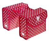 Bike Fashion Lillebi - Alforjas para bicicleta, diseño de lunares, color rojo