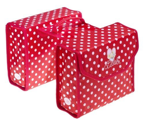 Bike Fashion Double sac de vélo Modèle Lillebi Rouge à pois