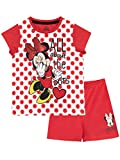 Disney Pijamas de Manga Corta para niñas Minnie Mouse Rojo 3-4 Años