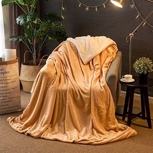 BZRXQR Versátil Manta de Lana de Invierno Manta Mantas de Lana súper Suave y cálida de Banda en el sofá Cama Plaza Cubierta Manta sofá (Color : 3, Size : 120x200 cm)