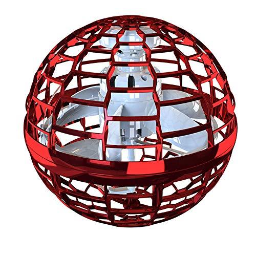 Tamkyo FlyNova Pro Flying Toys Handgesteuerte -Freiflugwege für UFO-Drohnen Kreativ für BüRo-Gartenrot im Innen- und Au?Enbereich