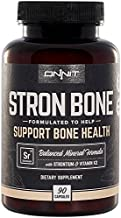 Onnit Stron Bone with Strontium and Vitamin K2 (90 Capsules) - Formulated to Help Support Bone Health