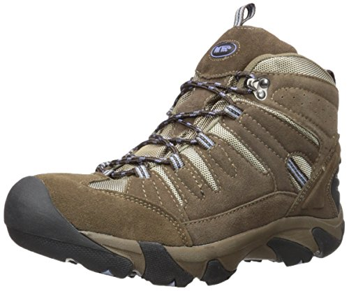 Ad Tec Womens Waterproof Suede Leather Work Boots, Brown - Electrical Hazard Outsole, Composite Cap Toe, Industrial Work and Moderate Hiking