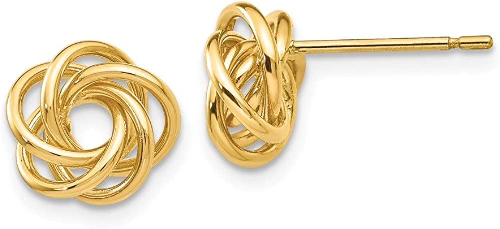 14k Yellow Gold Knot Post Stud Earrings Ball Button Love Fine Jewelry For Women Gifts For Her