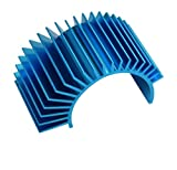 Apex RC Products Blue Aluminum Electric Motor Heat Sink for Cooling 540 / 550 Motors 8040