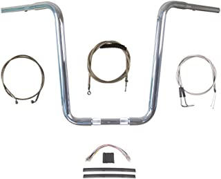 "Hill Country Customs 1 1/4"" Chrome Narrow 16"" Ape Hanger Handlebar Kit 2007-2010 Harley-Davidson Softail - BC-HC-11416N-ST10"