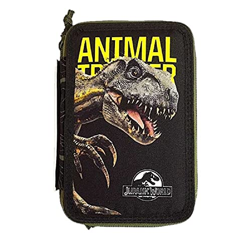 Astuccio Jurassic World Completo Triplo 3 Zip Animal 19x12x6 cm