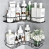 Huryfox 2Pack Corner Shower Caddy Bathroom Shelf, Rust Proof Bathtub Accessories Organizer, Adhesive Basket Storage Rack...