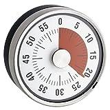 Time4Me Minuteur Mécanique de Cuisine - INOX - Magnétique