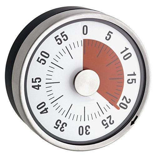 Time4Me Minuteur Mécanique de Cuisine - INOX -...