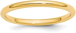 14k Yellow Gold 2mm Standard Comfort Fit Wedding Ring Band Size 6.5 Classic Cf Style Mm B Width Fine Jewelry For Women
