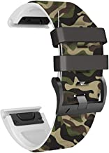 ANCOOL Compatible with Fenix 5X Plus Bands Easy Fit Silicone Watch Bands Replaceament for Fenix 5X Plus/Fenix 3/Fenix 6/Fenix 6 Pro Smartwatches