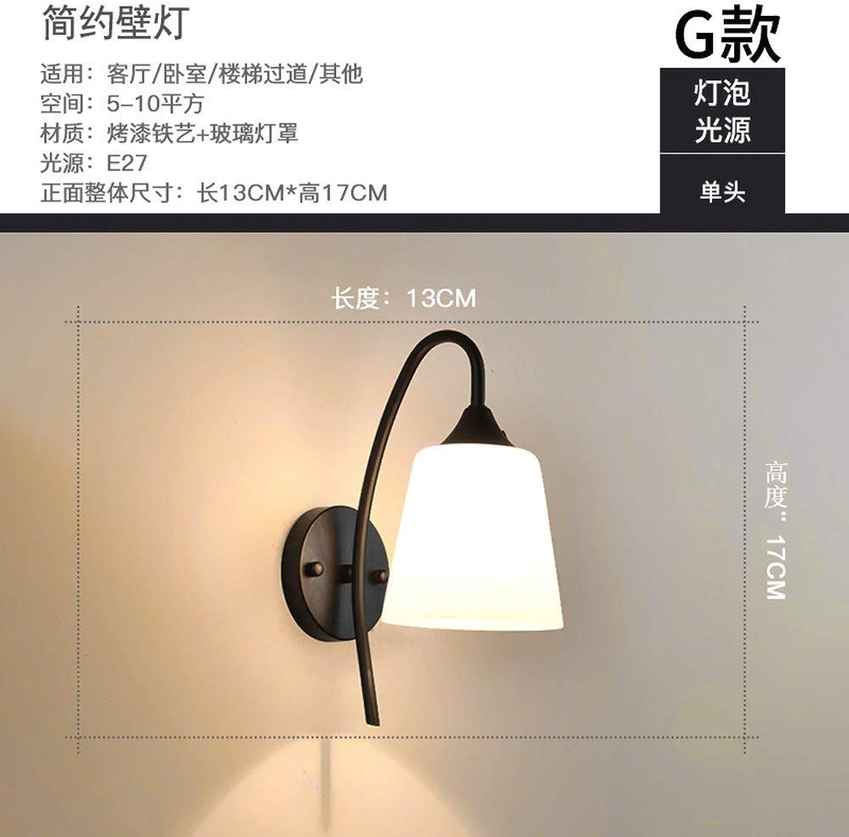Xinxin24 Nachttischlampe Schlafzimmer Wandleuchte Einfache Moderne Wandleuchte Persnlichkeit Kreative Dekorative Gang Lampe Wohnzimmer Treppe, Stil 6,13  17 cm