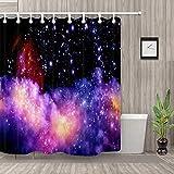 kglkb Duschvorhang,Stars Shine Duschvorhänge Badezimmer Schimmelbeständigkeit Wasserdichtes Gewebe 180X180Cm