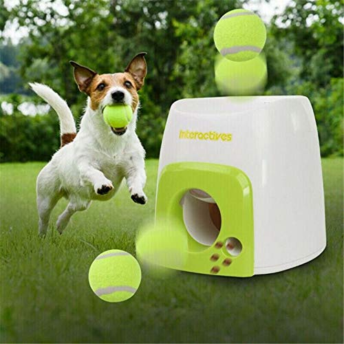 S-SNAIL-OO Automatic Tennis Ball Launcher Pet Dog Thrower Toy, Automatic Tennis Ball Launcher for Dogs Interactive Fetch Toy Machine, All for Paws Interactive Automatic Dog Ball Launcher