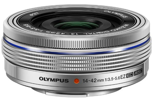 Olympus M.Zuiko 14-42mm f3.5-5.6 EZ Interchangeable Lens for Olympus/Panasonic Micro 4/3 Digital Camera (Silver)
