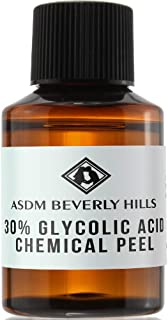 ASDM Beverly Hills Glycolic Acid Peel 30% 1Oz 30ml Medical Strength Treatment, Reduce Acne Pores, Scars, Breakouts, Sunspots, Wrinkles, Discoloration, Increase Collagen, Anti-Aging, AHA Chemical Peels