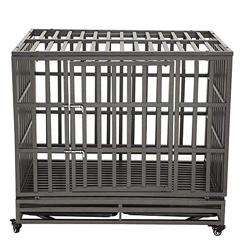 LUCKUP Empire Heavy Duty Dog Cage Strongest Metal Kennel and Crate for Medium and Large Dogs, Pet...