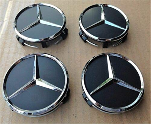 Jqlcgtmqwu 75mm Genuine OEM Mercedes Benz Blue Laurel Wreath Wheel Center Hub Insert Cap