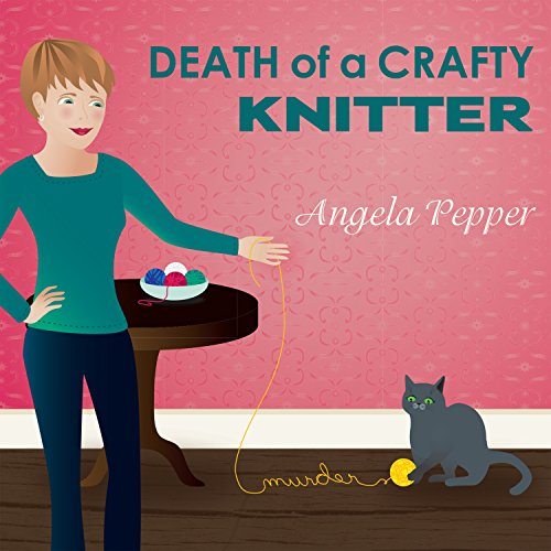 Death of a Crafty Knitter audiobook cover art