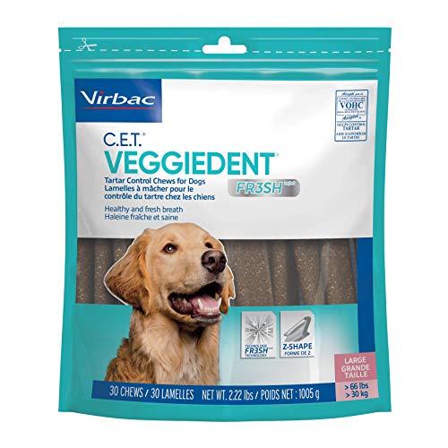 Virbac CET Veggiedent FR3SH Tartar Control Chews for Dogs