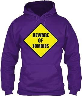 teespring Men's Beware Zombies - Sweatshirt - Gildan 8Oz Heavy Blend Hoodie