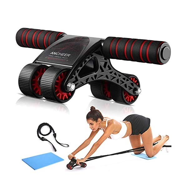 ANCHEER Ab Roller Kit for Core Workout – Perfect Home Gym Equipment for Men...