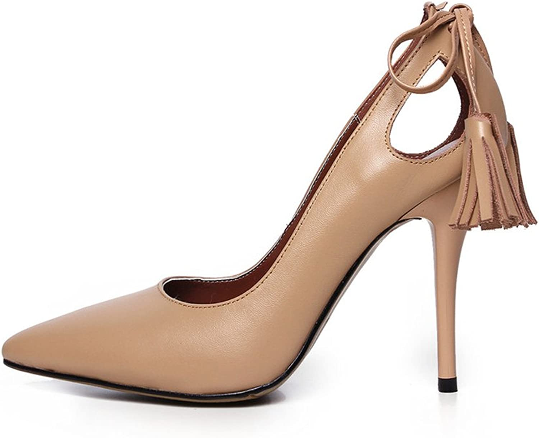 MINIVOG High-heel Womens Pumps shoes with Detachable Tassels