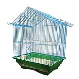 luckxuan Jaula para Pájaros Creative Parrot Bird Cage Metal Acacia Bird Classic Número Grande Jaula de pájaros Jaula para pájaro (Color : Blue)