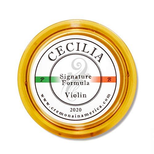 CECILIA 'Signature formula' Rosin for Violin, Rosin Specially Formulated Violin Rosin for Violin Bows (New 'Liquid Form Blending Method') (MINI (Half Cake))