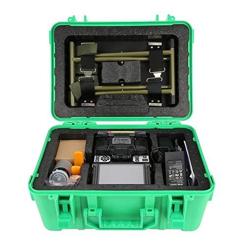 Empalmador de fusión de fibra, 100-240V FS-60C Máquina de empalme de fibra óptica...