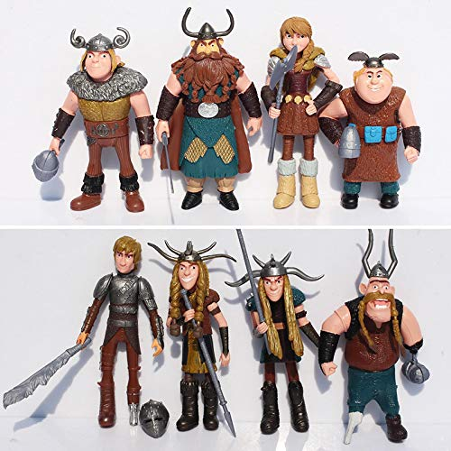 Kshong 8Pcs/Set 10-13Cm How To Train Your Dragon 2 Figurines PVC Action Figures Classic Toys Kids Gift for Boys Girls Children