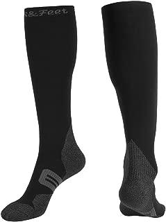 Men's Odor Free Deodorant Quick-Dry Compression Socks Graduated Stocking,  L