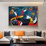 Pinturas en lienzo del nacimiento del mundo de Joan Miro Famosos carteles e...