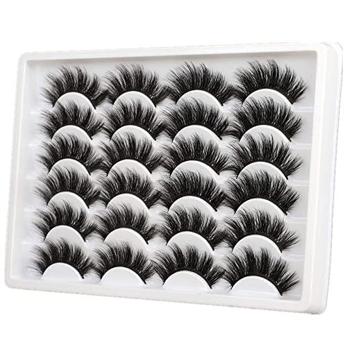 ALICE Eyelashes 20MM Faux Mink Lashes 3D 12 Pairs Pack Dramatic Long False...