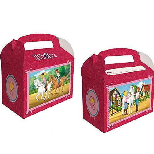 6 Geschenkboxen * BIBI & TINA * für Kinderparty und Kindergeburtstag von DH-Konzept // Blocksberg Party Set