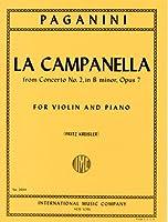 パガニーニ/クライスラー: ラ・カンパネラ(鐘)/インターナショナル・ミュージック社/ピアノ伴奏付バイオリン・ソロ用編曲楽譜