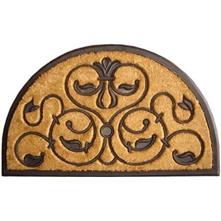 Imports Decor Half-round Rubber Back Coir Doormat, Brigoder, 30-Inch by 48-Inch