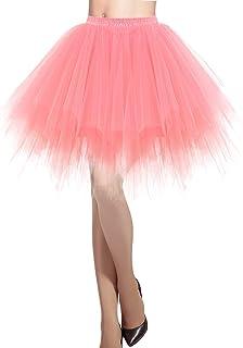 DRESSTELLS Donna Balletti Danza Tutu Gonna Annata di 50 Cocktail Swing Principessa Sottogonna Tulle