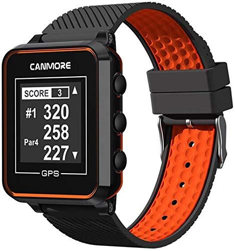 Canmore TW-353 GPS Golf-Uhr - Set mit Netzteil (schwarz/orange)