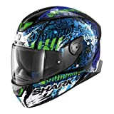 Shark 2674_26817 Cascos de Moto SKWAL 2 Switch Rider 2 KBG-S, Hombre, Negro/Azul/Verde