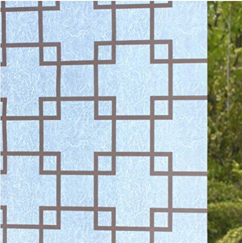 WDNMD 60x200cm la película autoadhesiva para Puertas correderas de Cristal translúcido de baño Aseo Ventana de celofán Adhesiva de Papel de Lija Ventana,si