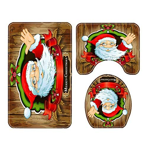 Bathroom Furniture Christmas Decoration Accessories (3 Pieces Mat Set Only)